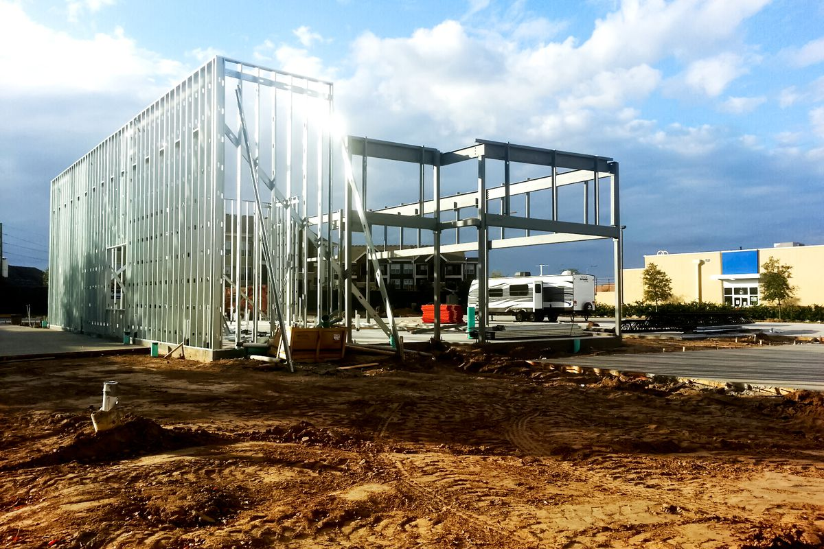 Houston's first Krispy Kreme re-emergence is undergoing construction in Bear Creek.
