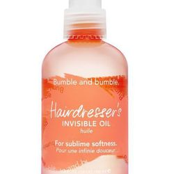 """<b>Bumble and bumble</b> Hairdresser's Invisible Oil, <a href=""""http://www.bumbleandbumble.com/product/9358/23196/Products/Hairdressers-Oil/hairdressers-invisible-oil/index.tmpl"""">$38</a>"""