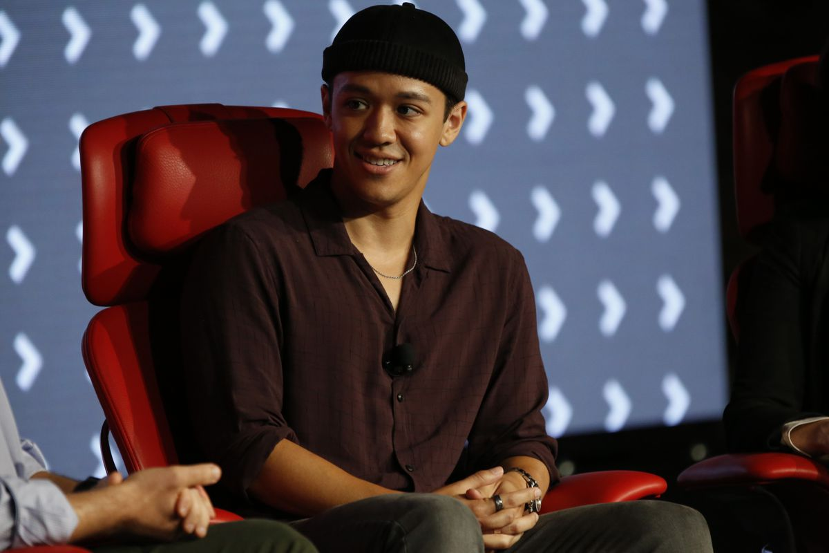 Kyle Hanagami interviewed onstage at Code Commerce.