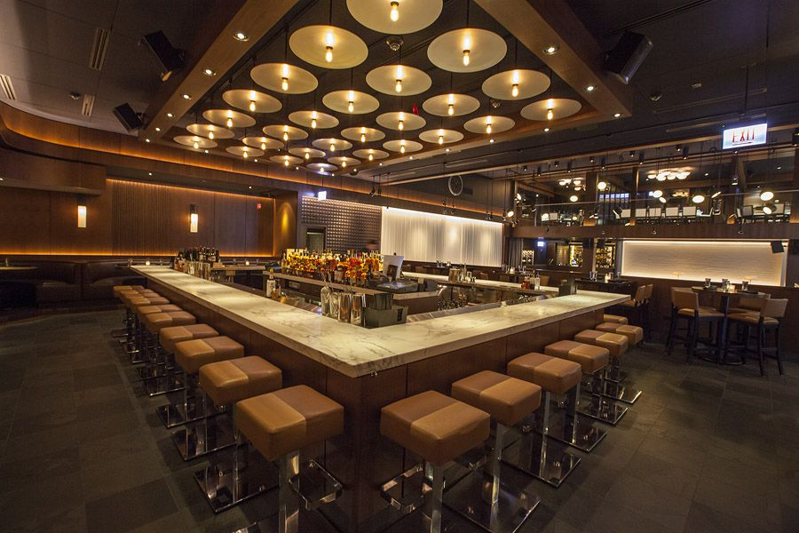 A view of RPM Steak's central bar.