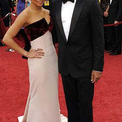 Lenny Kravitz and his daughter Zoe Kravitz arrive at the 82nd Academy Awards Sunday.