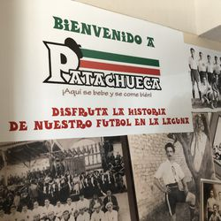 """Entrance to Patachueca. """"Enjoy the history of our soccer in La Laguna."""""""