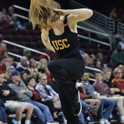 Hair flying Trojan Dance Force.