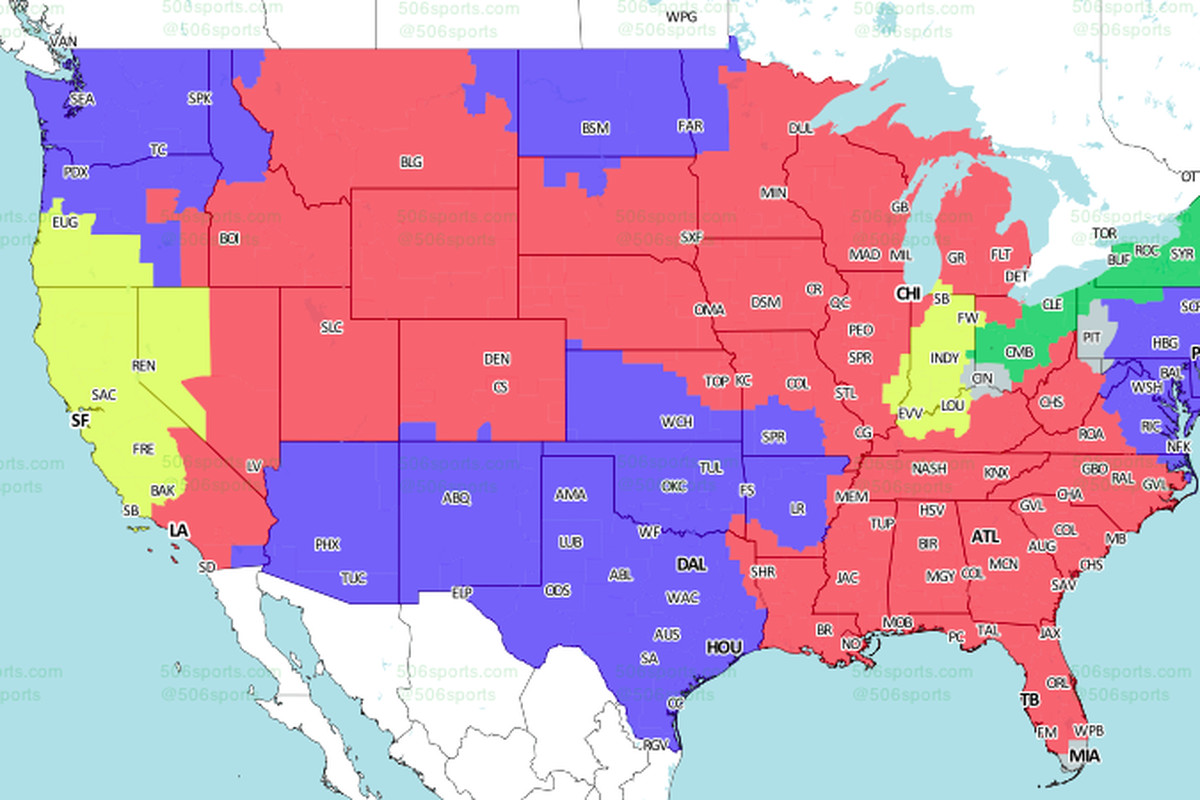 ErsColts TV Schedule Broadcast Maps In The US International - Us map san francisco