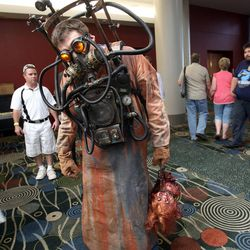 Mike Simpson attends Utah's first Comic Con at the Salt Palace Convention Center in Salt Lake City on Thursday, Sept. 5, 2013.