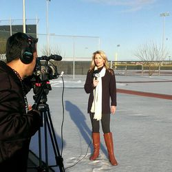 Here's @FOXSPORTSAZ @Jody_Jackson from SNOW River Fields. Yes, this is Scottsdale. #Dbacks @SaltRiverFields