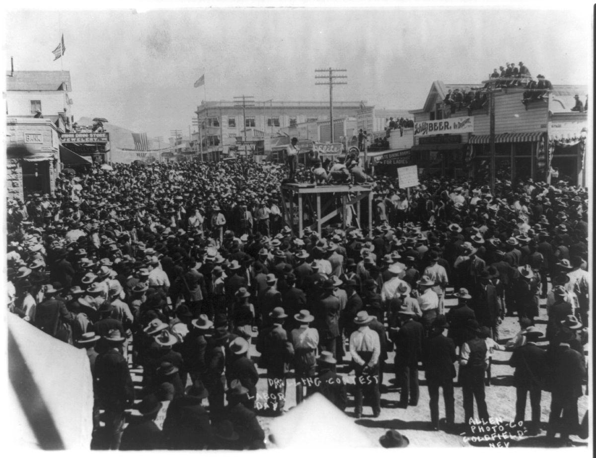 A Labor Day drilling contest in 1906