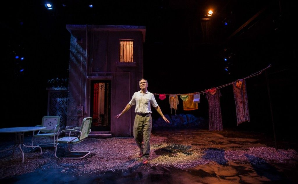 """Henry Godinez as Oscar Amalfitano in the Goodman Theatre world premiere of """"2666,"""" adapted and directed by Robert Falls and Seth Bockley. (Photo: Liz Lauren)"""