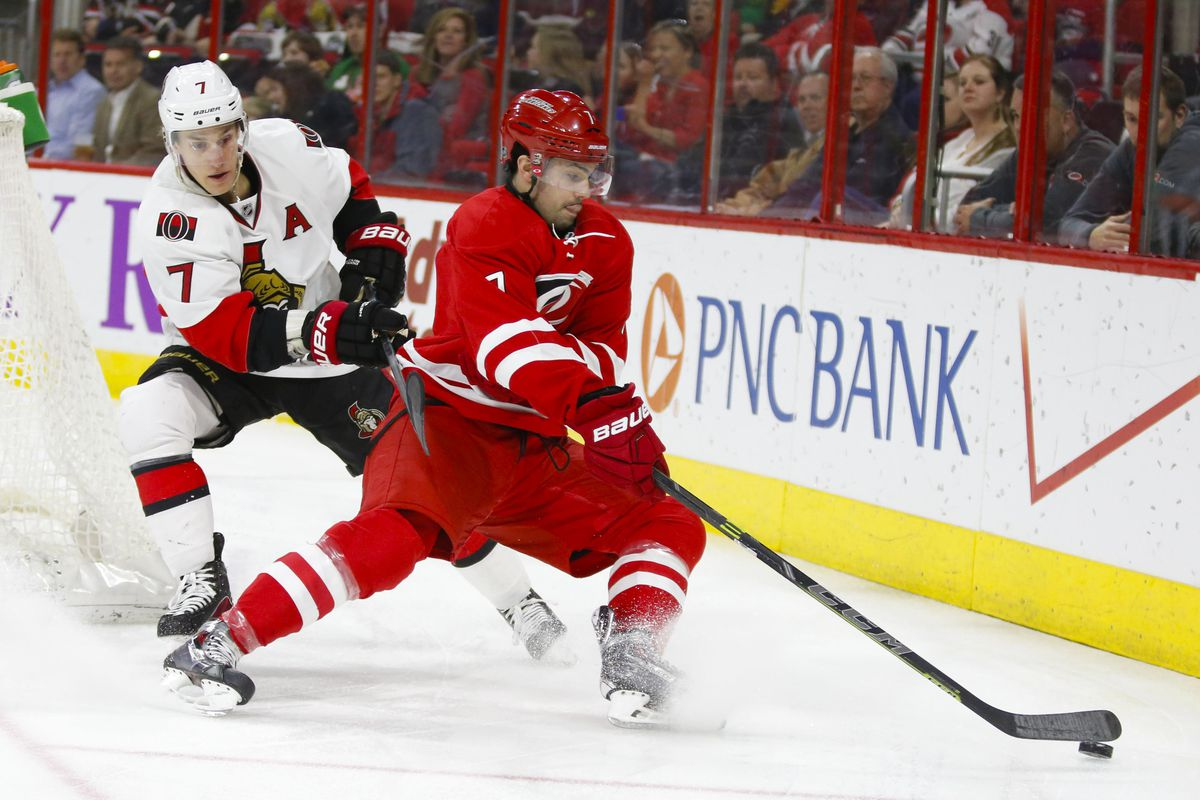 Turris battles for the puck down low