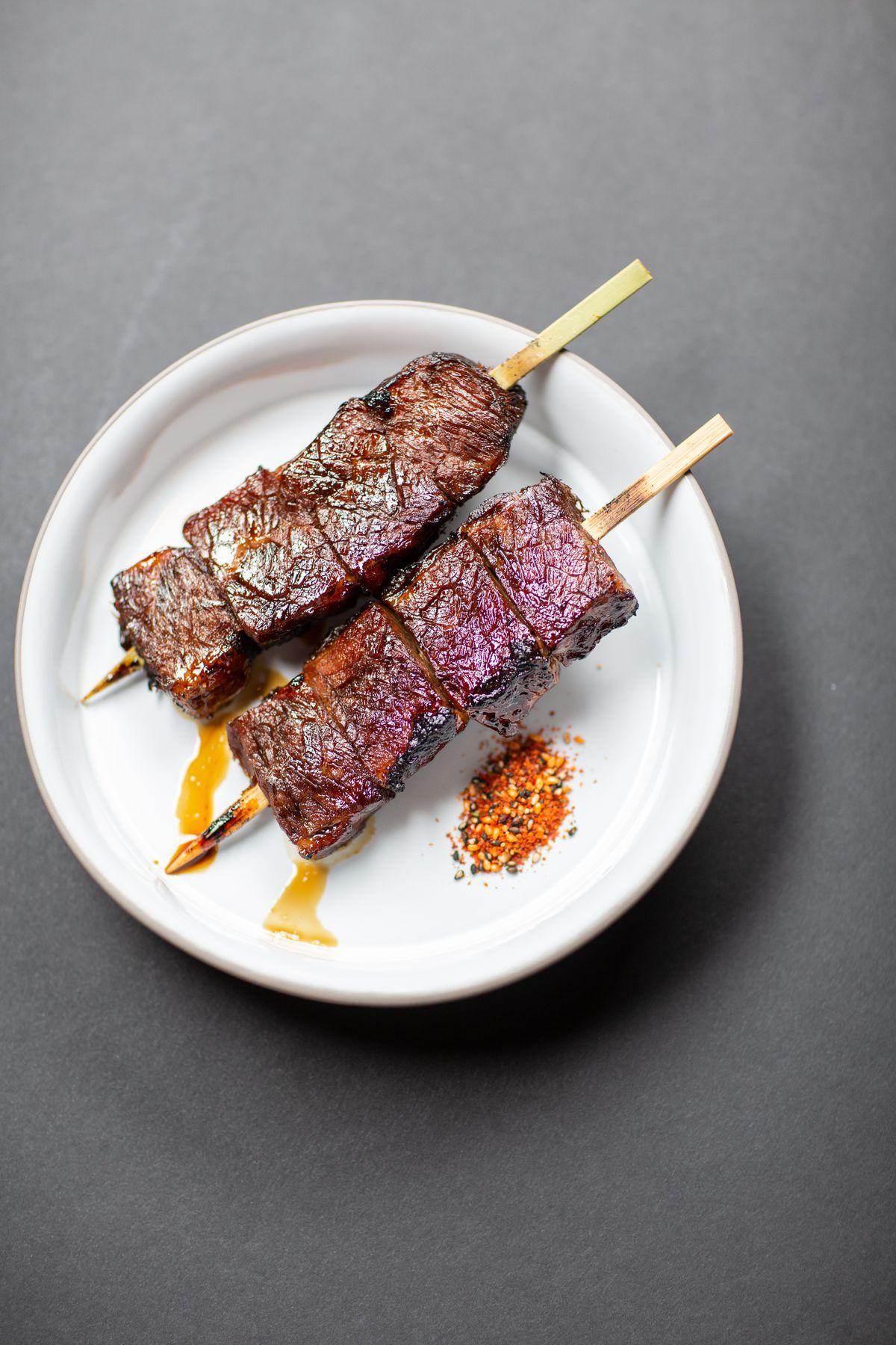 Beef kushiyaki from Shibuya Eatery