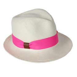 """<a href=""""http://www.hatattack.com/EPF501-Bleach-Pink-Neon/Short+brim+fedora+-+Bleach+with+pink+neon+ribbon+trim.html""""> Hat Attack short brim fedora with neon ribbon</a>, $96.00, hatattack.com"""