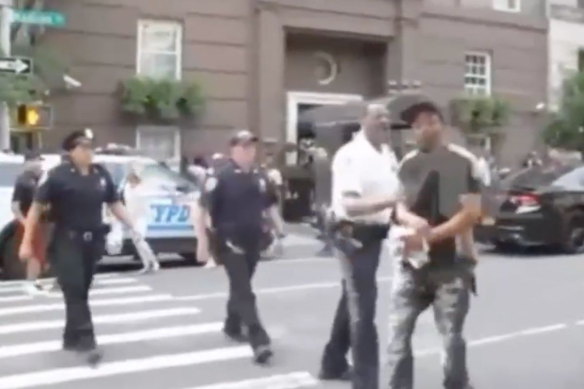 The NYPD released video showing NYPD Lieutenant Kevon Sample shoving a mourner during a wake for rap legend Prodigy in 2017.