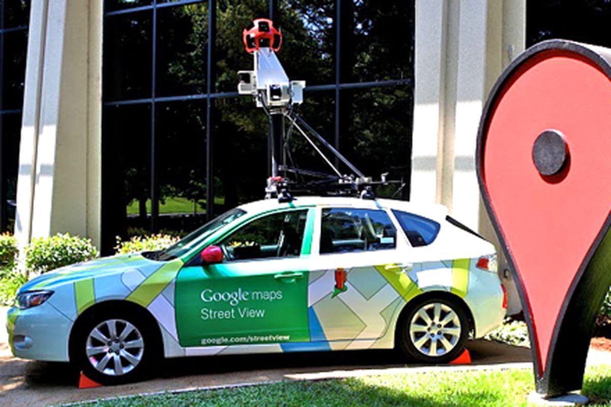 Google Street View car promo image