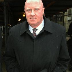 FILE- In this March 8, 2004 file photo,  L. Dennis Kozlowski, former Tyco Chief Executive Officer, leaves court in New York during the lunch break. Kozlowski has lost a bid to get out of the New York prison on Thursday, April 5, 2012, where he's serving time for taking millions of dollars in unauthorized bonuses. He was sentenced to 8 1/3 to 25 years in prison.