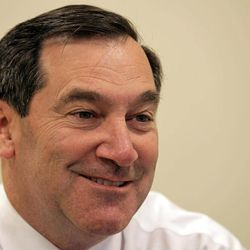 Democratic U.S. Senate candidate Joe Donnelly answers questions during an interview with the Associated Press in Indianapolis, Wednesday, Sept. 26, 2012.  Donnelly is running against Republican Richard Mourdock to replace Richard Lugar.