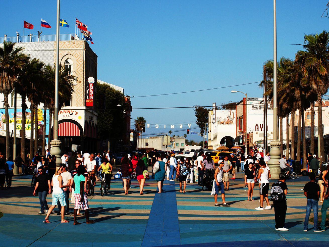 A crowded scene in Venice