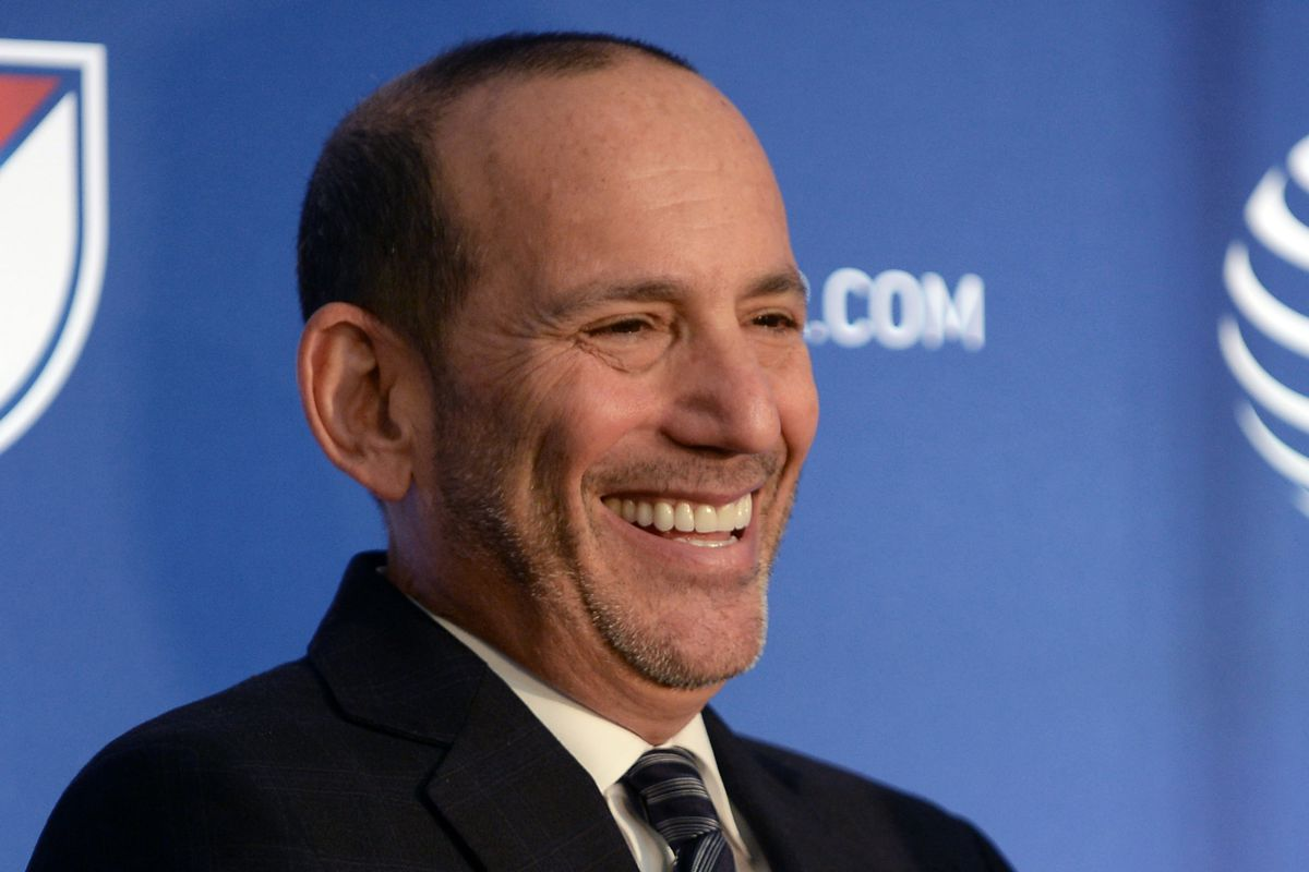 Don Garber, just before he found out.