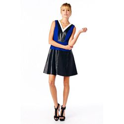 """Electric Blue Dress at <b>VIRA</b>, <a href=""""http://www.shopvira.com/collections/clothing/products/electric-blue-dress"""">$105</a>"""