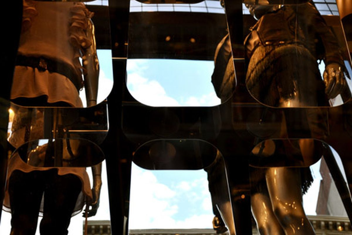 "Topshop window via <a href=""http://www.flickr.com/photos/essgee/3993049680/in/pool-rackedny/"">EssG</a>/Racked Flickr Pool"