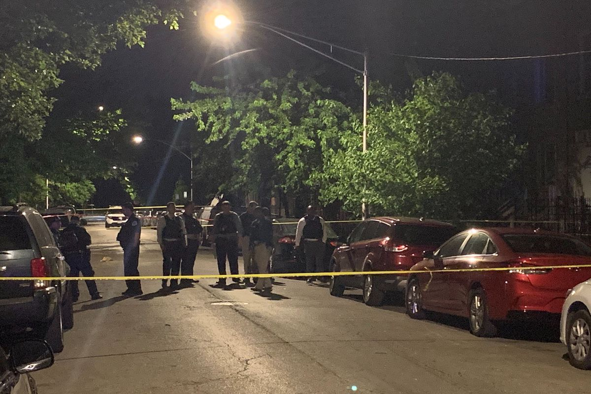 Police are investigating the scene where three men were shot, one of them fatally, June 10, 2020, in Lawndale.