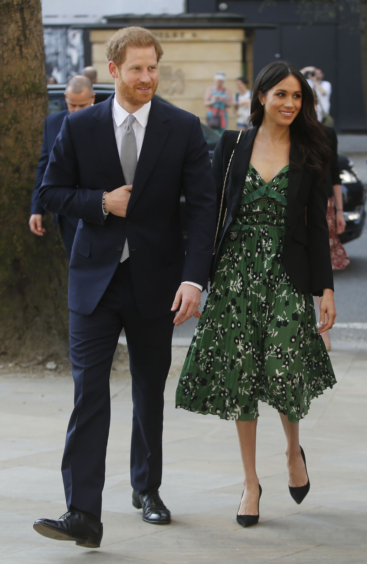 Meghan Markle and Prince Harry at the Invictus Games in London on April 21, 2018.