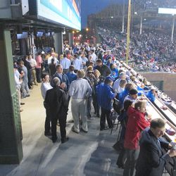 8:39 p.m. Another view of the full right-field patio -