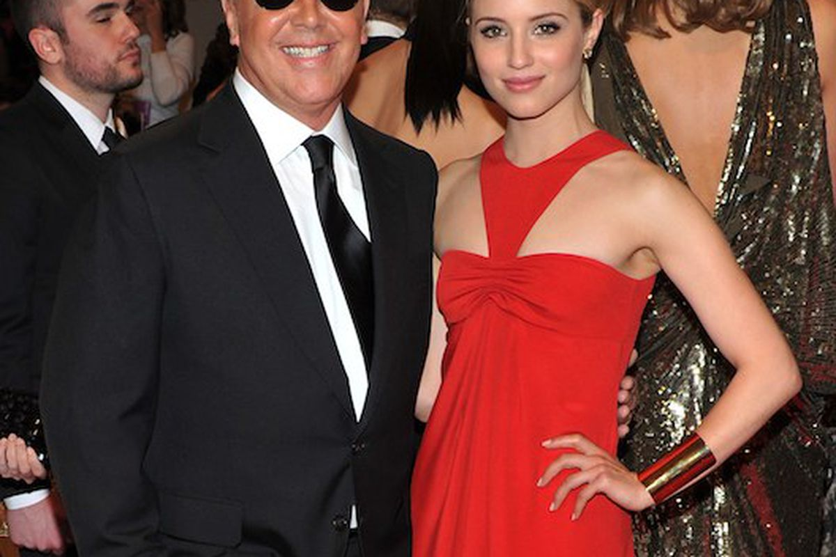 Michael Kors and Dianna Agron at the Met Ball (Photo credit: Getty Images)