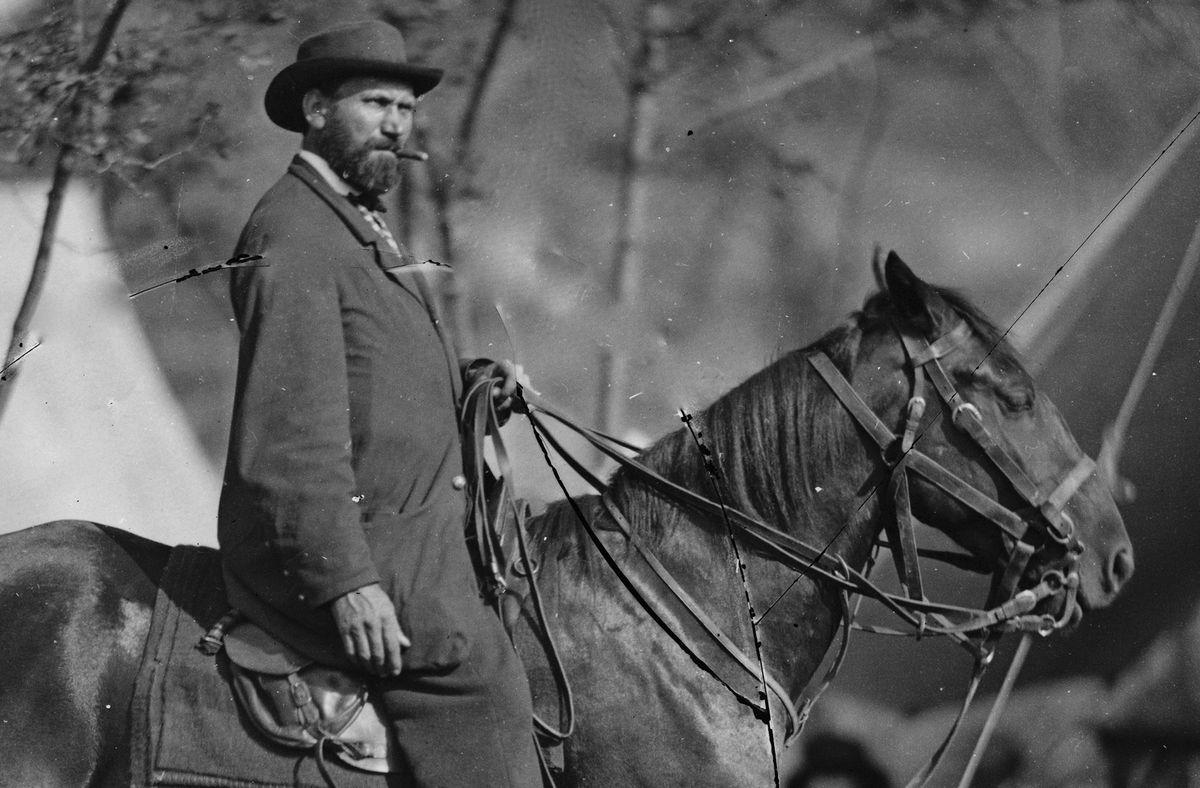 Pinkerton in 1862, on horseback.