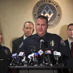 West Valley Deputy Police Chief Phil Quinlan answers questions from the media as West Valley officials hold a news conference Monday, May 20, 2013, to discuss detailed information on the Susan Cox Powell investigation. Susan Powell was last seen in December 2009.