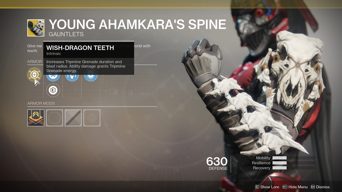 Young Ahamkara's Spine Exotic Destiny 2