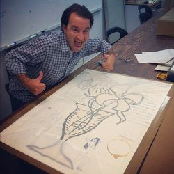 Adam Fields really excited about this new Donald Baechler acquisition!