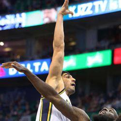 Utah Jazz center Enes Kanter (0) as the Utah Jazz defeat the Sacramento Kings 106-99 in NBA basketball Monday, Jan. 27, 2014, in Salt Lake City.