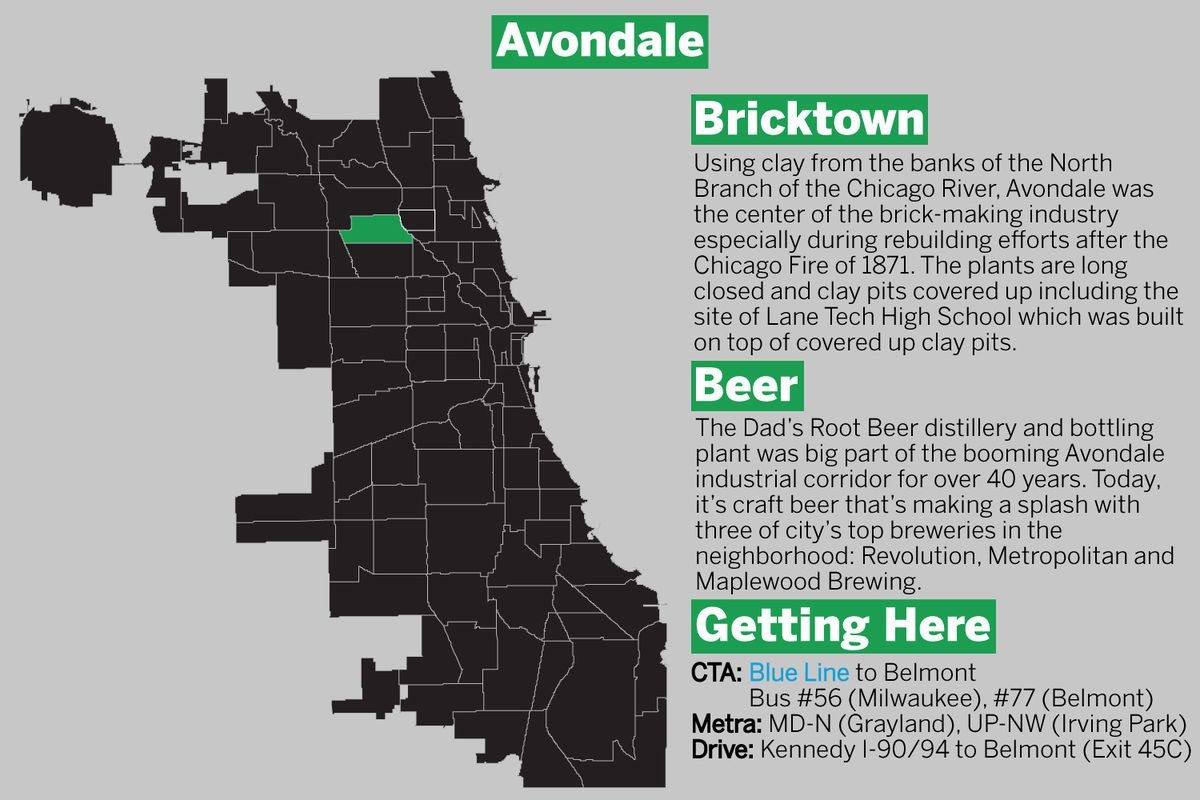 Avondale is on Chicago's northwest side.   Graphic by Tanveer Ali/Sun-Times