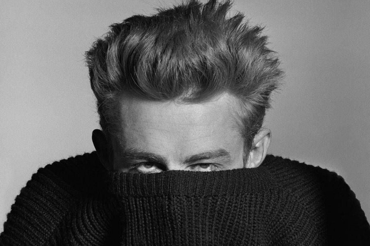 James Dean as shot by Phil Stern. Photo courtesy of AmericanIcons.com by way of The Americana at Brand.