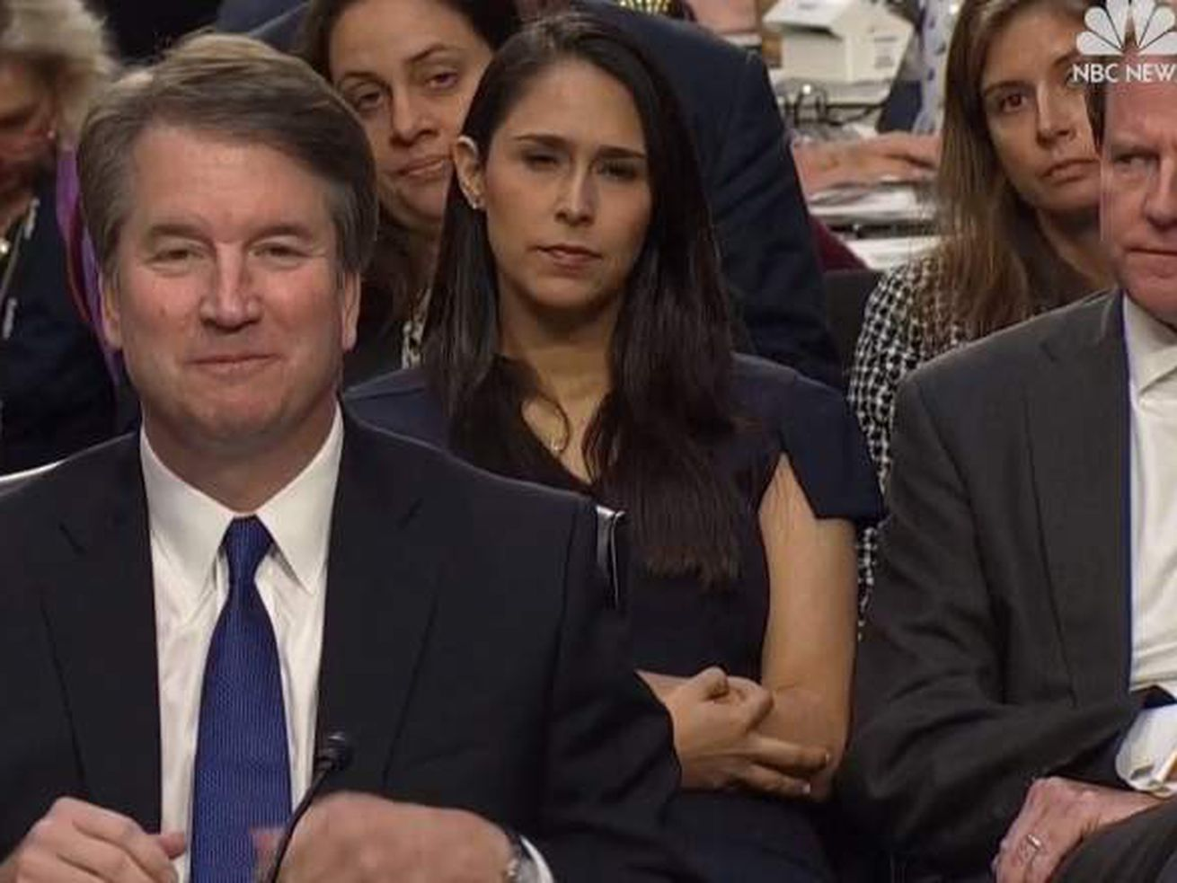 Zina Bush at the Kavanaugh confirmation hearing.