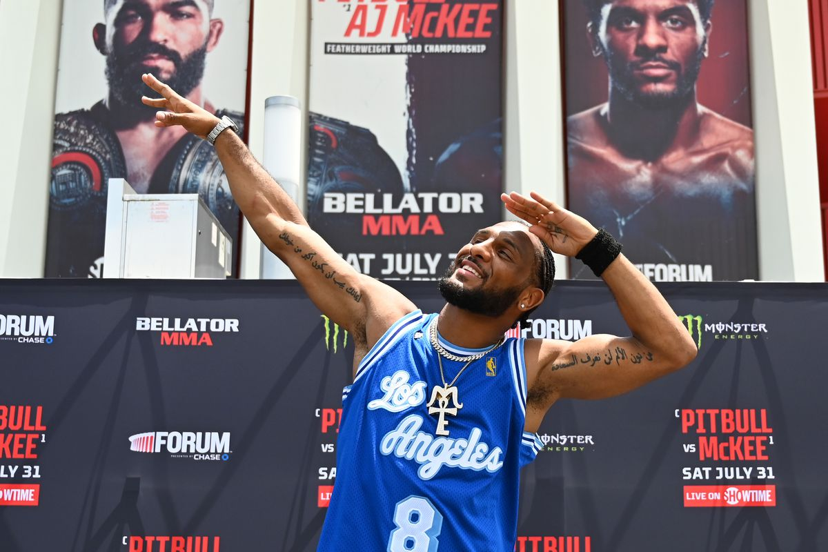 A.J. McKee during his open workouts for Bellator 263.