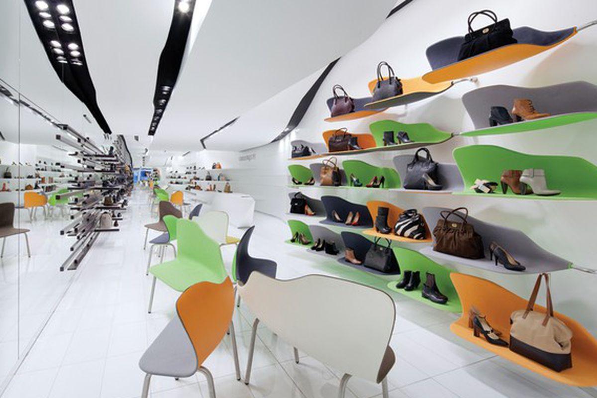 "A shot of the Soho store via <a href=""http://www.wwd.com/footwear-news/business/carlo-pazolini-plots-stateside-expansion-6568130?module=Footwear%20News-Business-main"">WWD</a>"