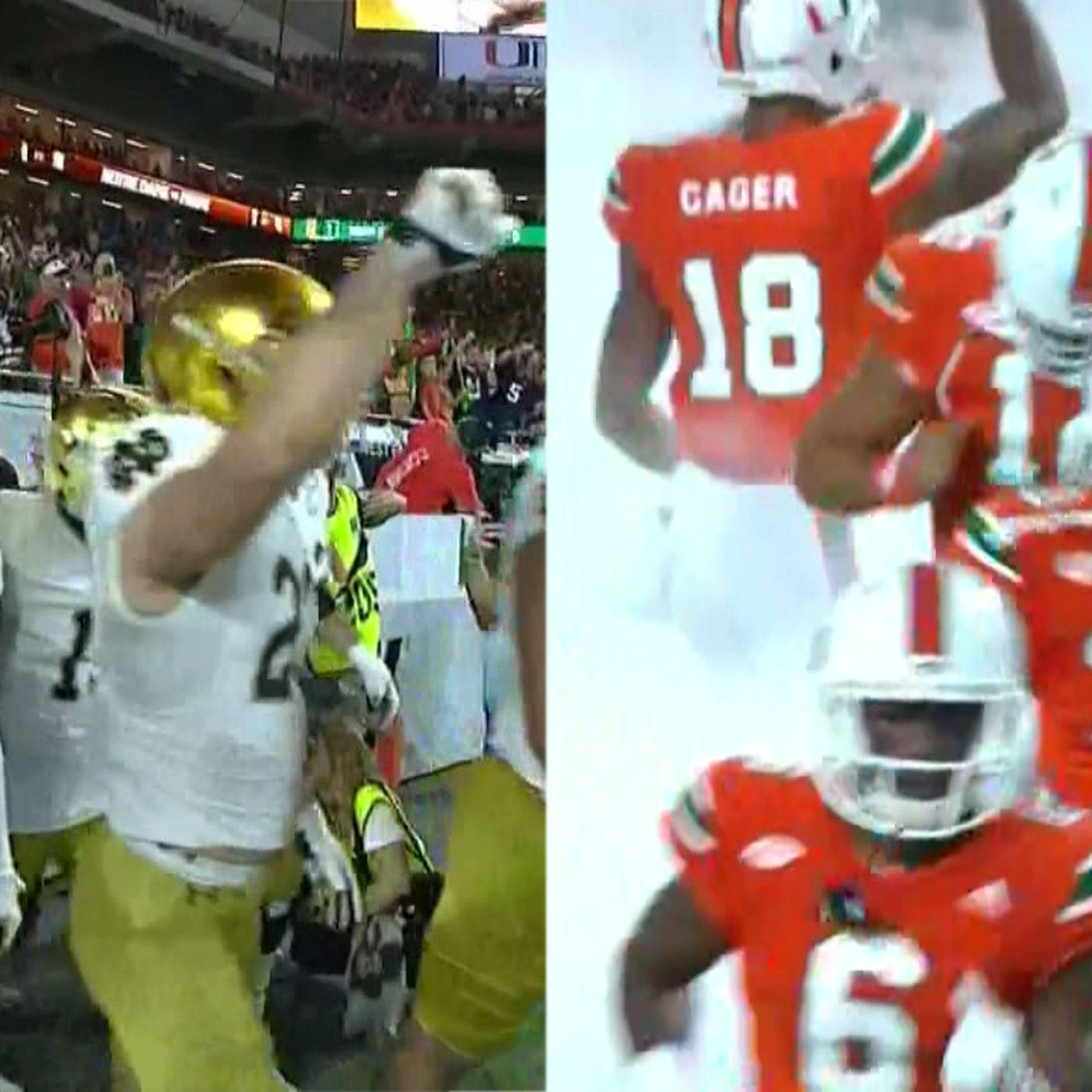 pretty nice 63eea 3640d Notre Dame vs. Miami: ABC's throwback intro with 'In The Air ...