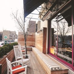 """The front porch [Photo: Eater Philly/<a href=""""http://www.alyssamaloof.com"""">Alyssa Maloof</a>]"""