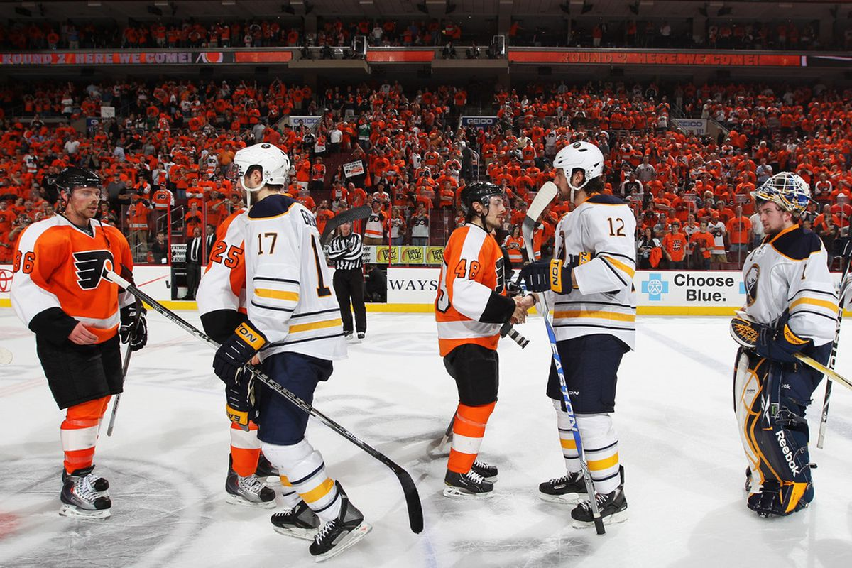 Dear Sabres, remember how you felt during this handshake? Let's play like that tonight.