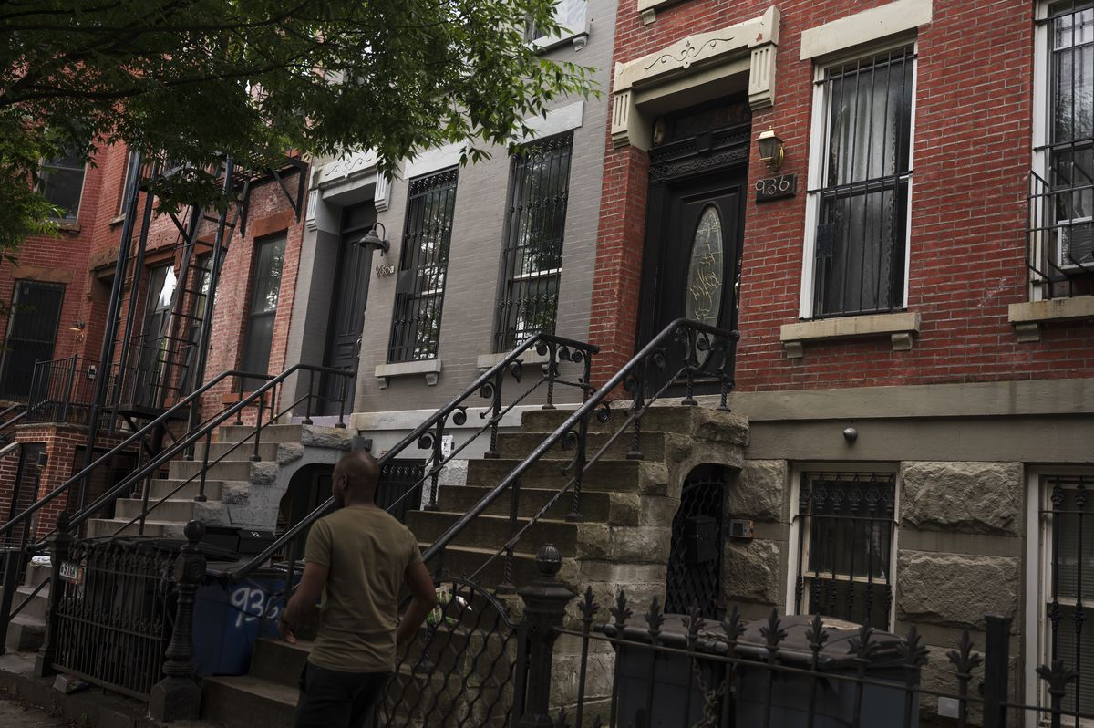 Brooklyn Borough President Eric Adams says he lives in a Bed-Stuy basement apartment with his son, June 11, 2021.