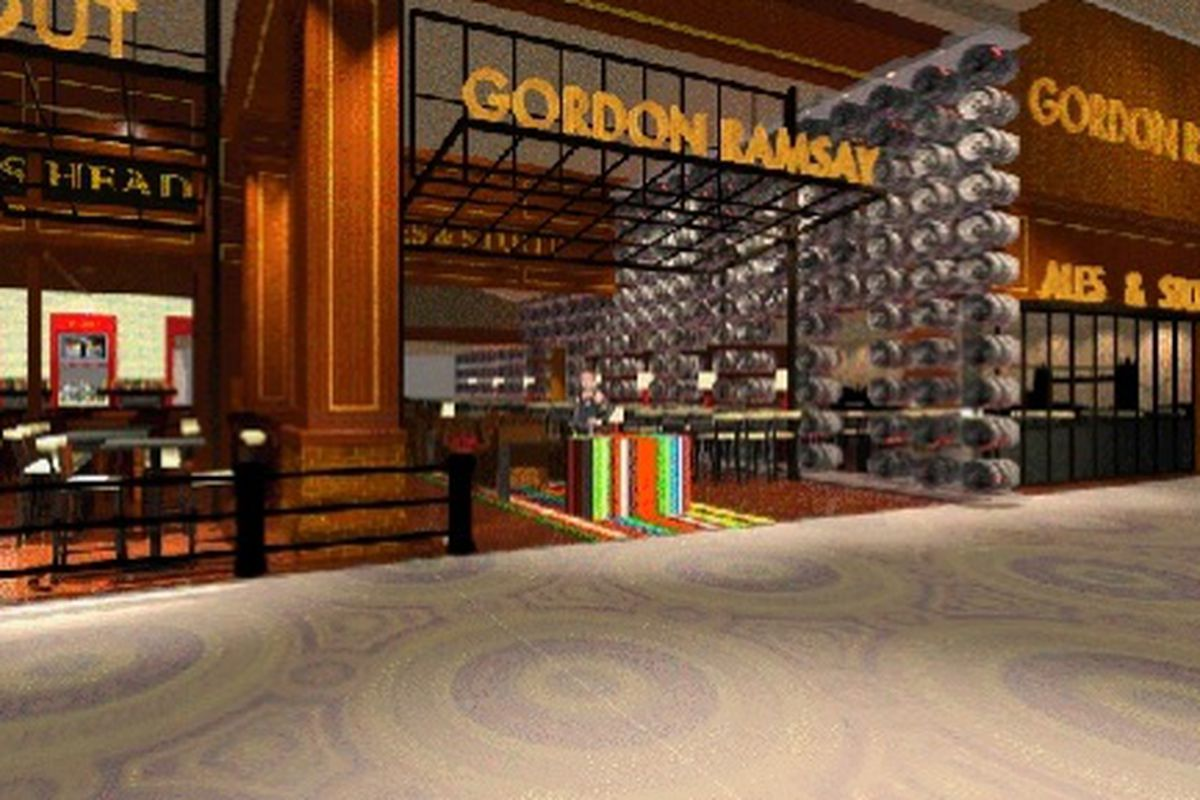 A rendering of the new Gorden Ramsay Pub & Grill
