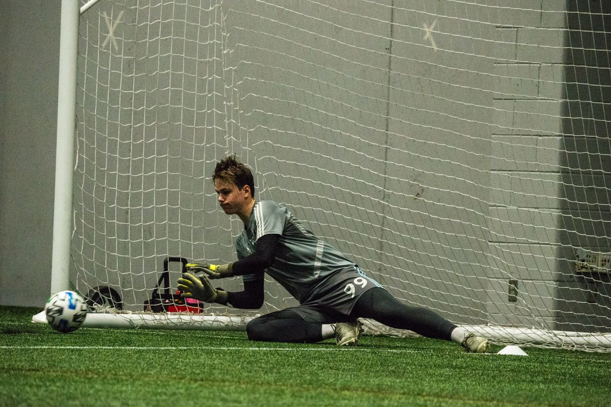 January 21, 2020 - Blaine, Minnesota, United States - Fred Emmings during a training at National Sports Center. (Photo by Tim McLaughlin)
