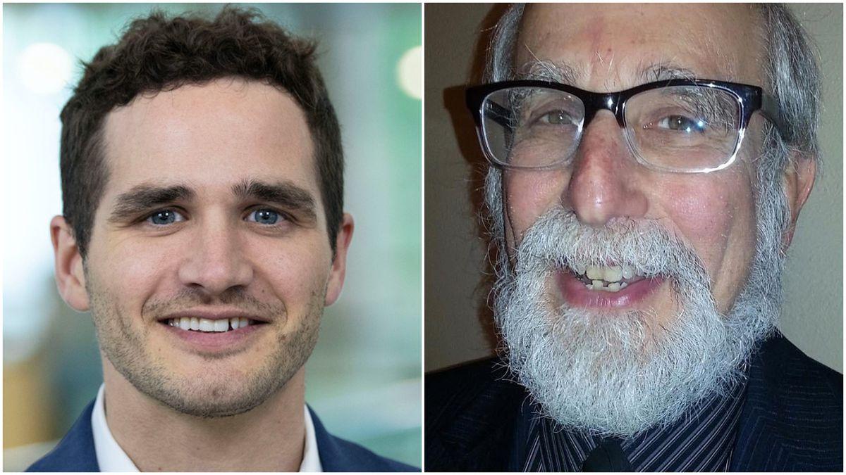 Libertarian Senate candidate Danny Malouf (left) and Green Party candidate David Black.