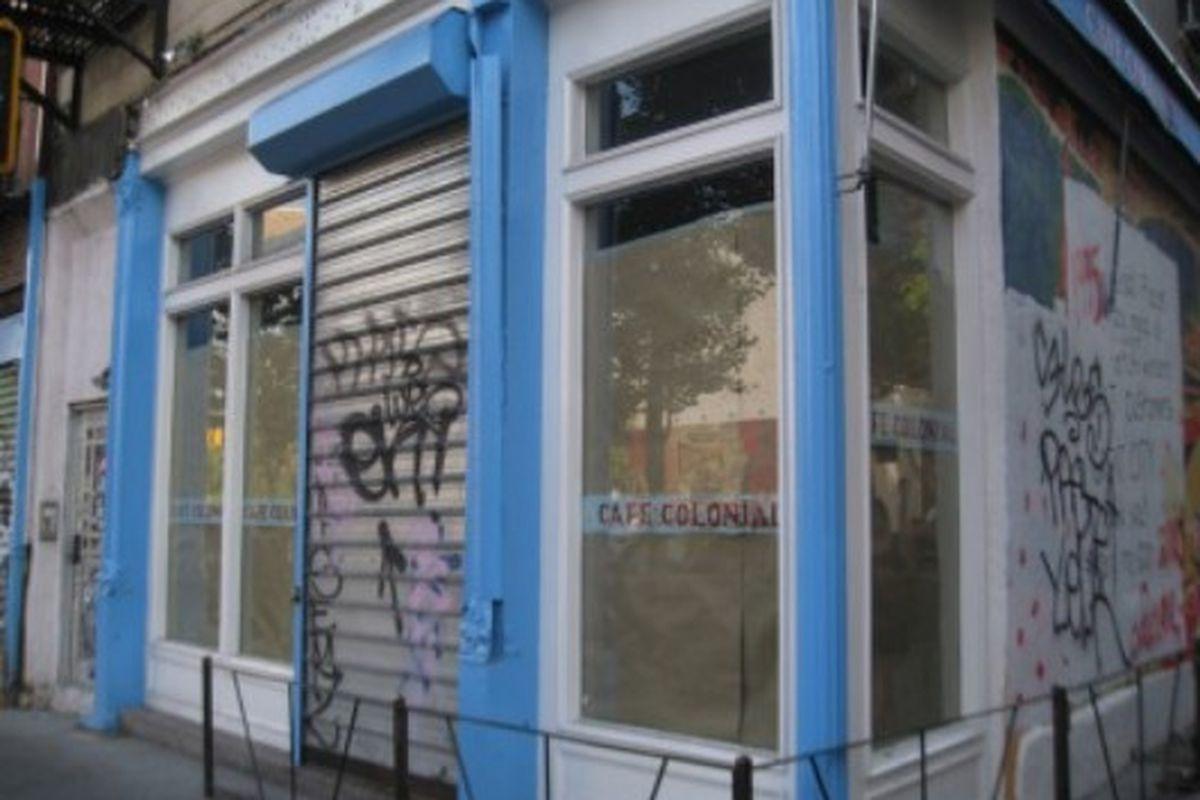 "Café Colonial soon to be Rag &amp; Bone via <a href=""http://www.boweryboogie.com/2010/06/coming-soon-rag-bone-at-73-east-houston.html"">Bowery Boogie</a>"