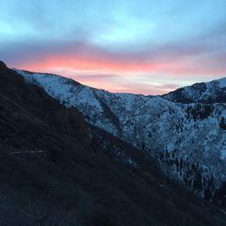 Saturday morning's Sunrise from the Grandeur Peak trail.