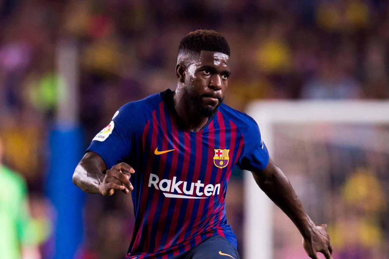 Samuel Umtiti could be out for the season