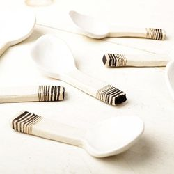 """Ceramic Spoons by Carnevale Clay, <a href=""""http://www.joinerynyc.com/shop/living/ceramic-spoon-by-carnevale-clay.html"""">$15</a> at Joinery"""
