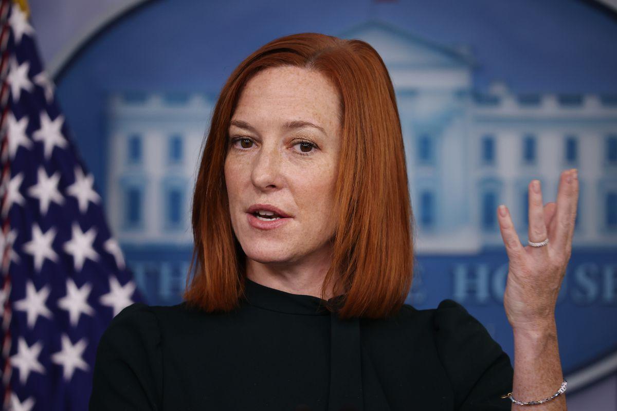 White House press secretary Jen Psaki At Daily Briefing