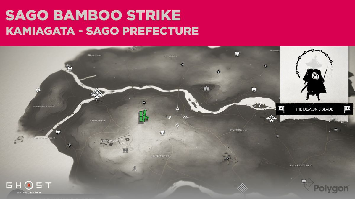 Bamboo Strike location in Sago in Ghost of Tsushima